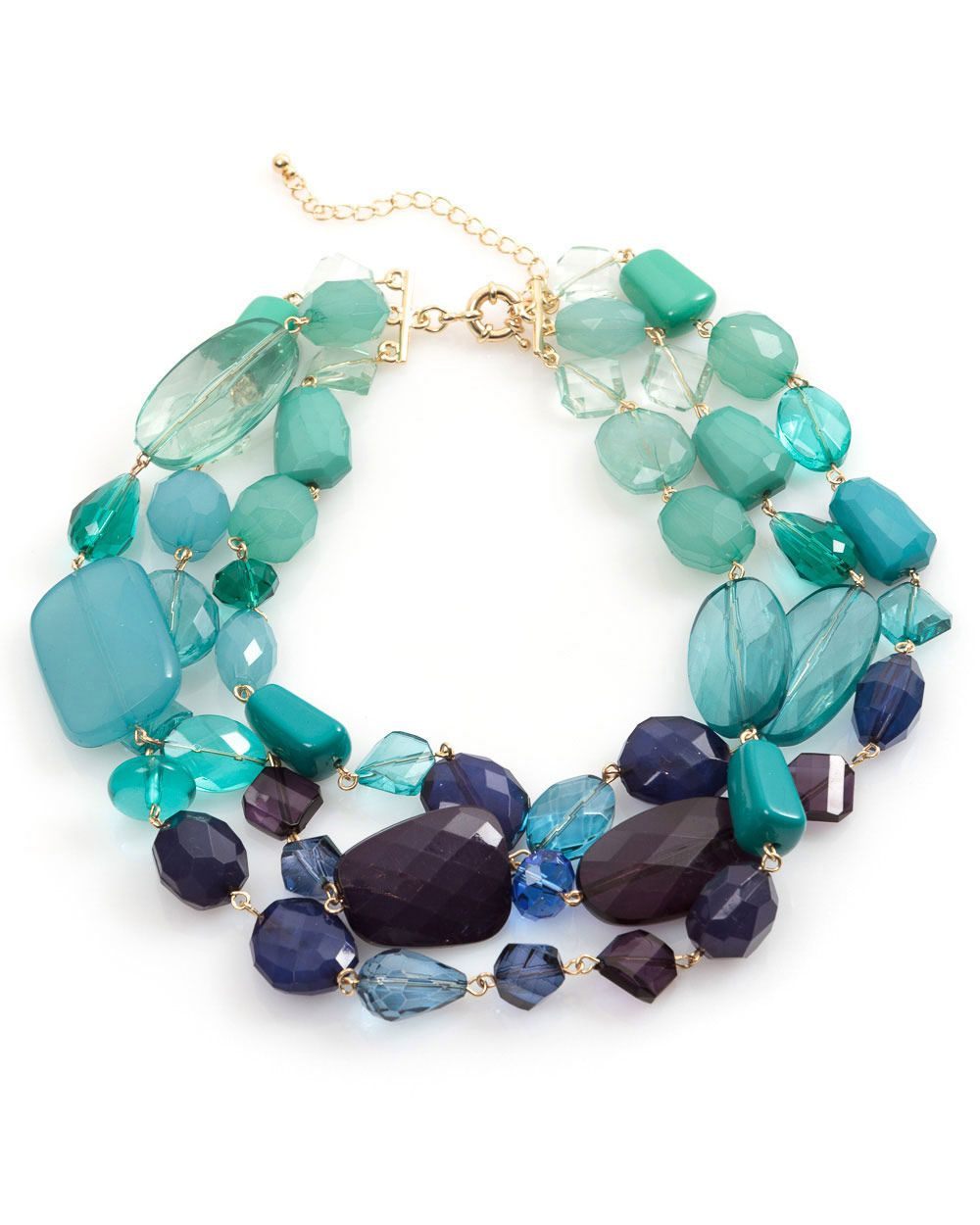 Multi faceted necklace