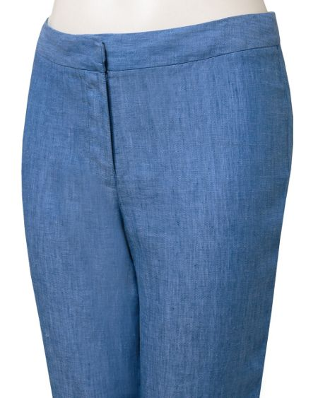 East Capri linen cross dye trouser