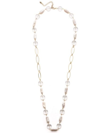 East Pearl link necklace