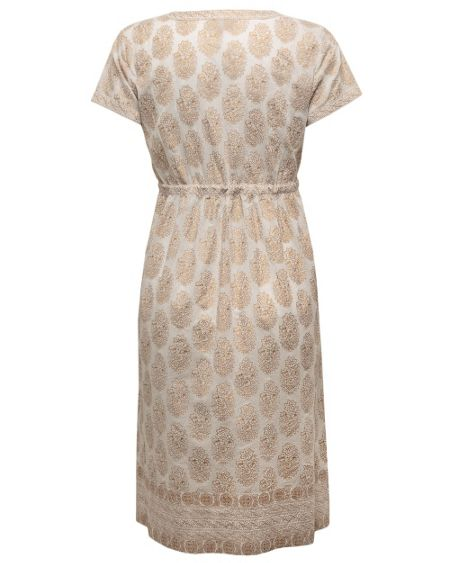 East Niwas Gold Print Dress