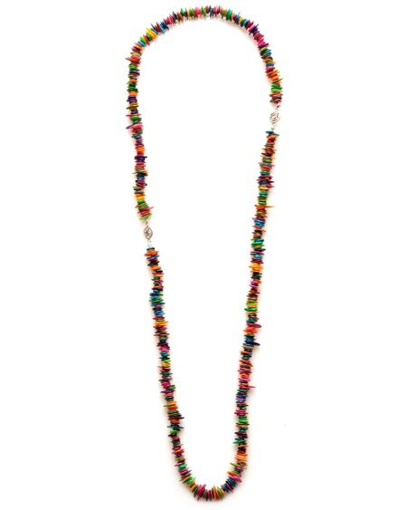 East Ana bright shell necklace