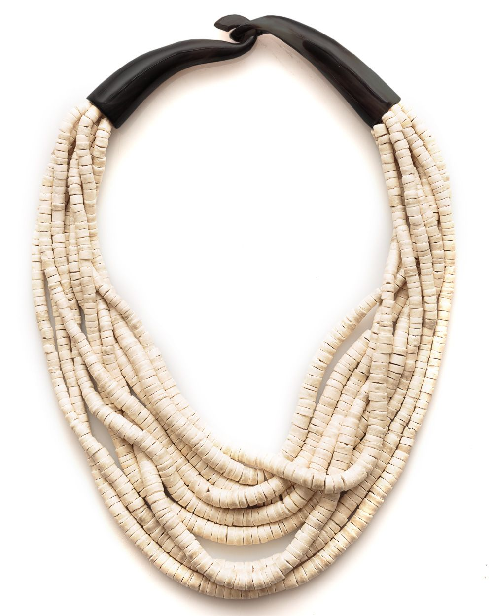 Tess Neutral Horn Necklace