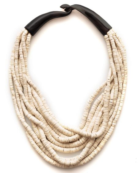 East Tess Neutral Horn Necklace