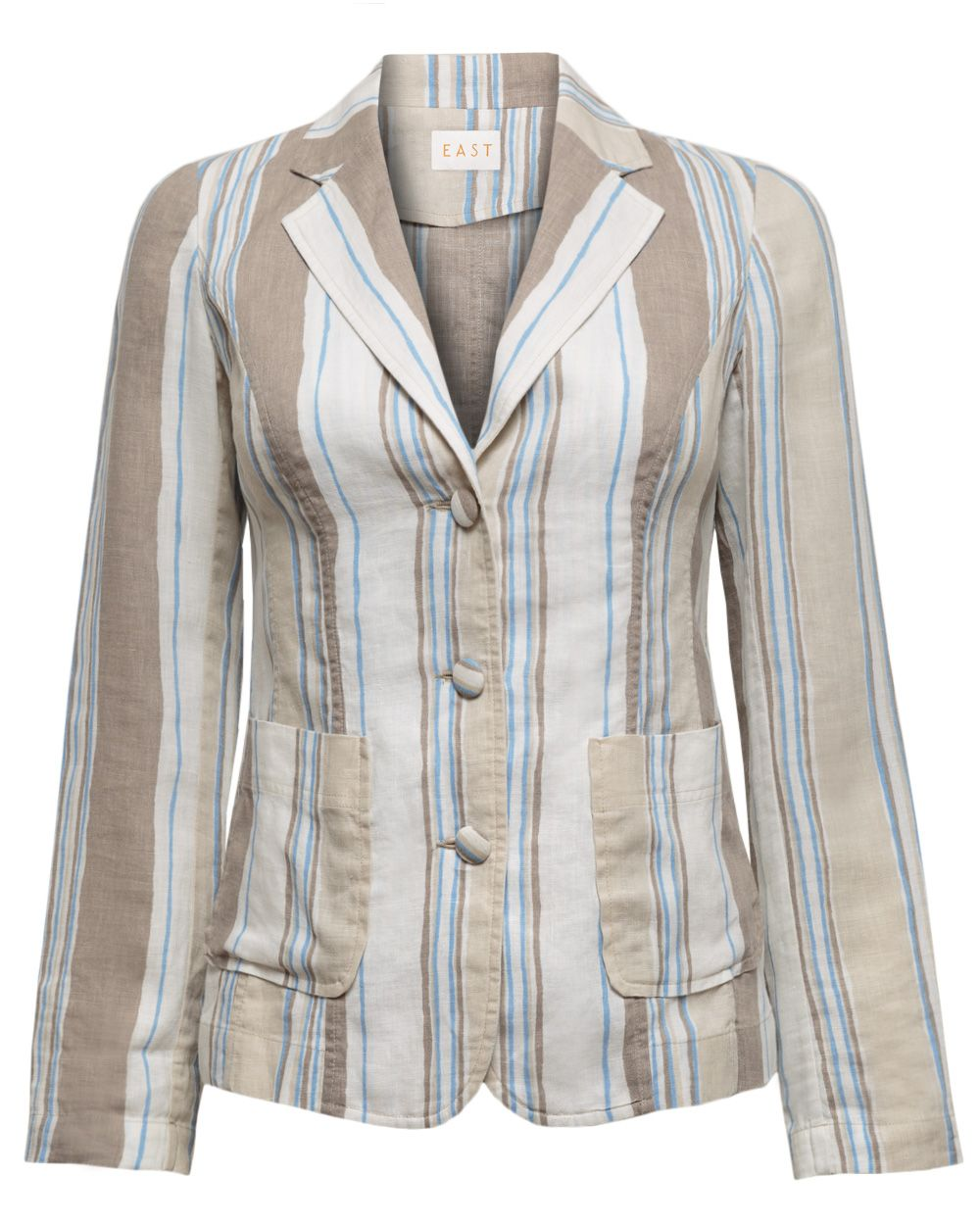 Henley stripe jacket