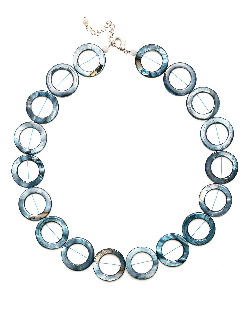Shell circle link necklace