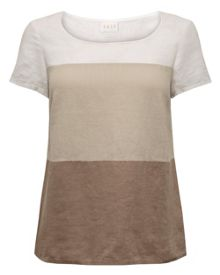 Colourblock Linen Tshirt