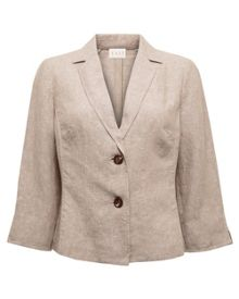 2 Button Cross dye Linen Jacket