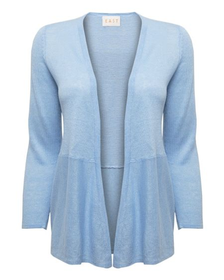 East 3qtr sleeve linen cardigan