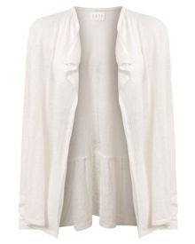 East Tie Back Linen Swing Cardigan