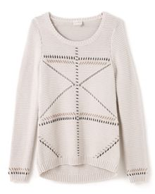 East Contrast Stitch Jumper