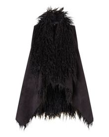 East Faux Fur Waterfall Gilet