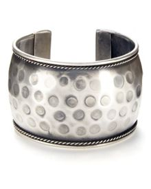 Silver Plated Texture Cuff