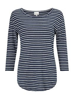 STRIPE COTTON JERSEY TOP