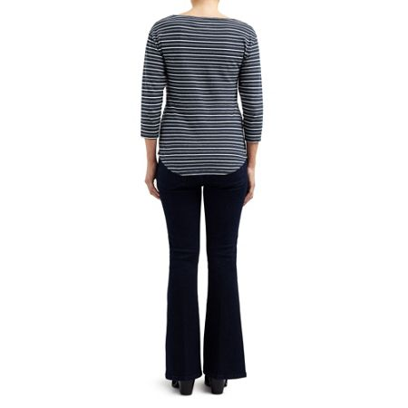 East STRIPE COTTON JERSEY TOP