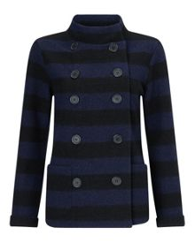 Stripe Felted Wool Jacket