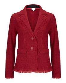 East Fringe Felted Wool Blazer