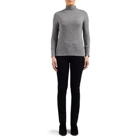 East Jersey Polo Neck Top