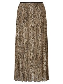 East Snake Print Pleat Skirt