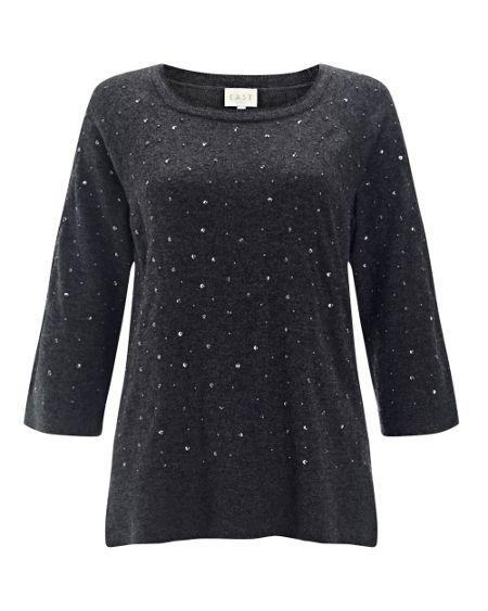 East Beaded Knitted Jumper