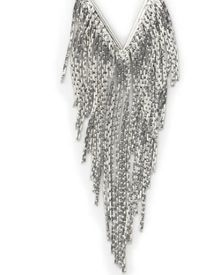 East Silver Fringed Pendant
