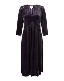 East Lace And Velvet Dress