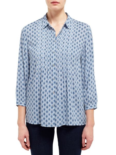 East Booti Print Pintuck Shirt