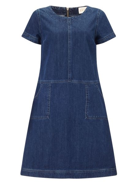 East Seam Detail Denim Dress