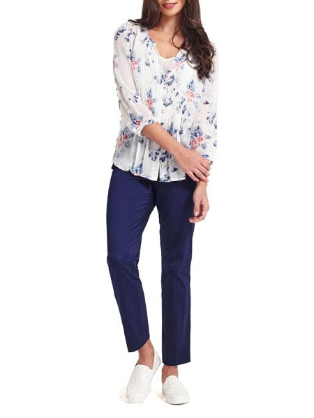 East Wednesday Pintuck Blouse