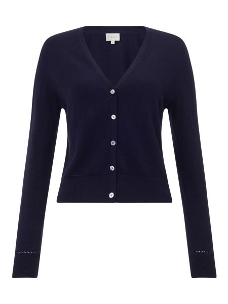 East Cropped V-Neck Cardigan