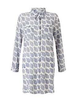 Pineapple Print Long Shirt