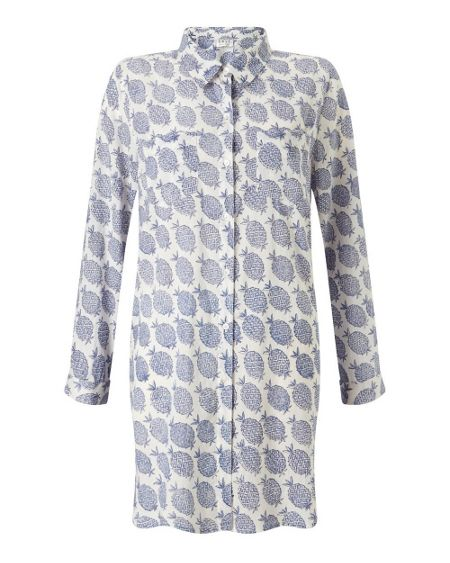 East Pineapple Print Long Shirt