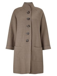 East Funnel Boiled Wool Coat