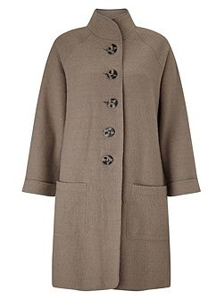 Funnel Boiled Wool Coat