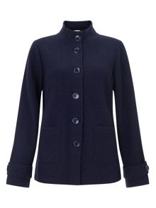 Boiled Wool Pea Coat