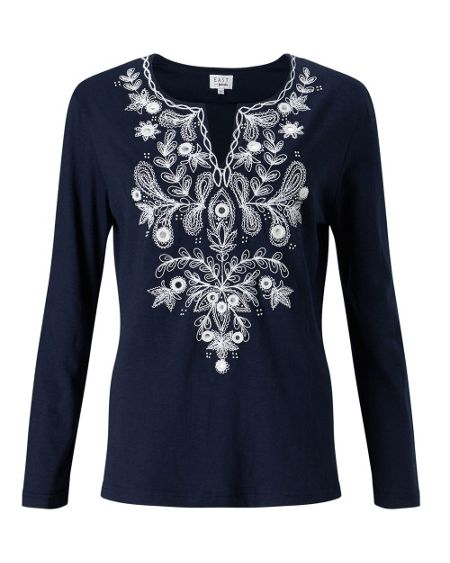 East Embellished Jersey Tee