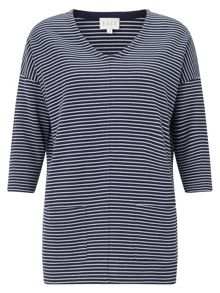 East Stripe Rib Jersey Top