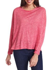 East Oversized Linen Top