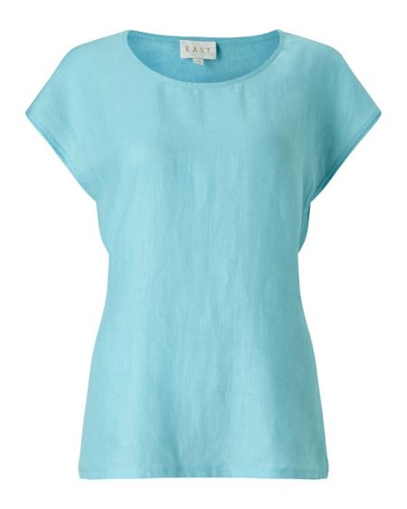 East COMBINATION LINEN TOP