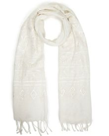 East Embroidered Scarf