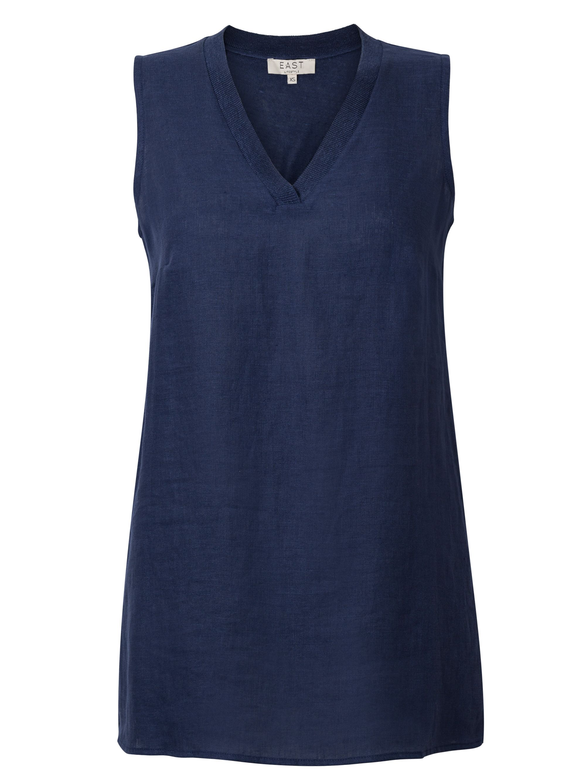 East V Neck Sleeveless Jersey, Ink
