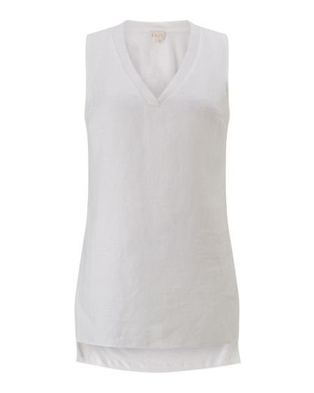 East V Neck Sleeveless Jersey