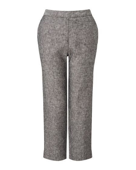 East Linen Capri Trouser