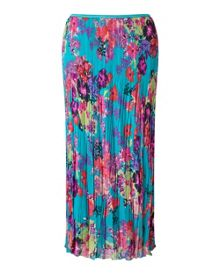 East Hope Print Pleated Skirt