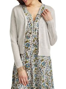 East V Neck Linen Cardigan