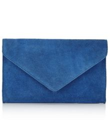 East Cobalt Blue Suede Clutch