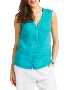 East Linen Sleeveless Shirt