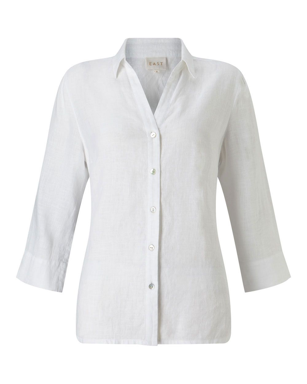 East Linen Shirt, White
