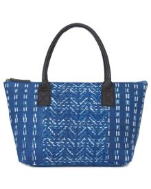 East Block Print Indigo Bag