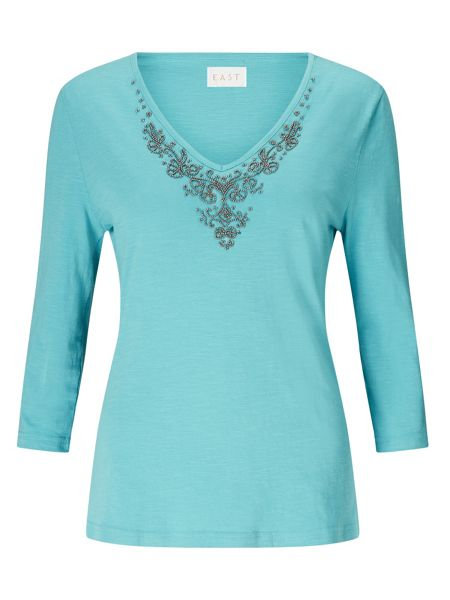 East V Neck Jersey Tee