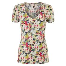 East Penny Floral Top